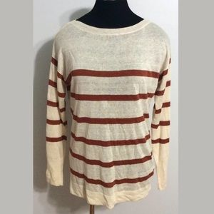 J.Crew Linen Striped Sweater Women's Size M